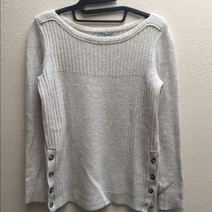 Madewell Pinewood Sweater in Heather Oyster XXS